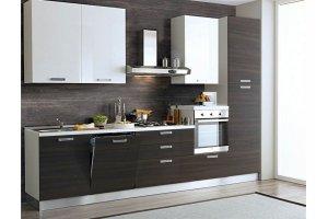 Прямая кухня ЛДСП Милан-7 - Мебельная фабрика «Баронс»