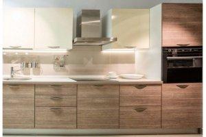 Прямая кухня ЛДСП Милан 9 - Мебельная фабрика «Баронс»