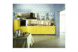 Прямая кухня Лимончелло - Изготовление мебели на заказ «КухниДар»