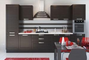 Прямая кухня МДФ+эмаль - Мебельная фабрика «Mebeon»