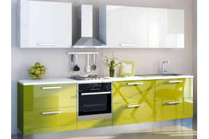 Прямая кухня модного цвета - Мебельная фабрика «Lakma»