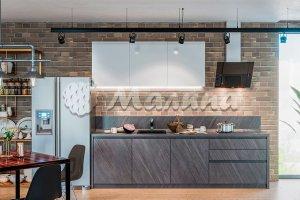 Прямая кухня MONO (М 33, ПЛАСТИК) - Мебельная фабрика «Малина»