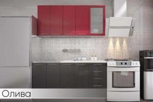 Прямая кухня Олива МДФ - Мебельная фабрика «Мебель Даром»