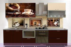 Прямая кухня с фотопечатью - Мебельная фабрика «Buena»