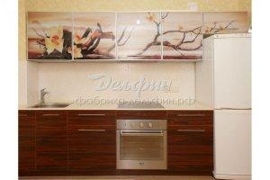 Прямая кухня с фотопечатью - Мебельная фабрика «Дельфин»