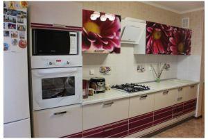 Прямая кухня  с лаковым фасадом - Мебельная фабрика «Самеко»