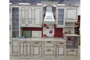 Прямая кухня с патиной - Мебельная фабрика «Древека»