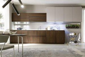 Прямая кухня с подсветкой - Мебельная фабрика «SaEn»