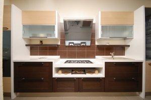 Прямая кухня со шпоном - Мебельная фабрика «Mirati»