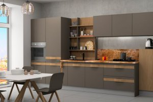 Прямая  кухня София из массива дерева - Мебельная фабрика «Кухни Медынь»