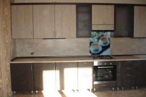 Прямая кухня в бежевых тонах - Мебельная фабрика «ДОН-Мебель», г. Волгодонск