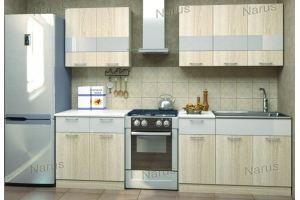 Прямая небольшая кухня 3 - Мебельная фабрика «НАРУС»