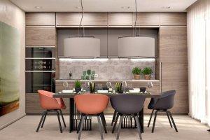 Прямая новая кухня - Мебельная фабрика «Лига»