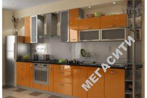 Прямая оранжевая кухня - Мебельная фабрика «Мега Сити-Р»
