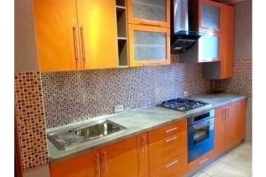 Прямая оранжевая кухня Некст - Мебельная фабрика «Барокко Плюс»