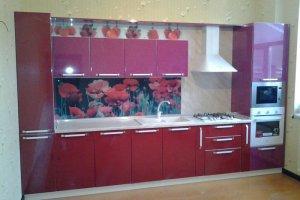 Прямая розовая кухня - Мебельная фабрика «ДОН-Мебель», г. Волгодонск