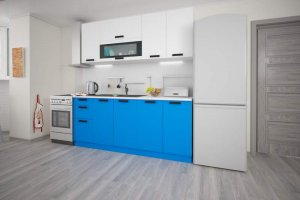 Прямая синяя кухня Фиджи - Мебельная фабрика «ЛЕКО»