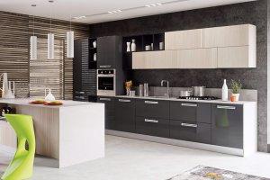 Прямая современная кухня 22 - Мебельная фабрика «Вариант М»