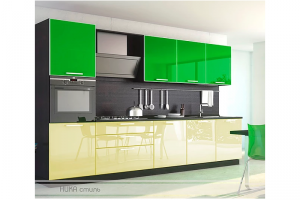 Прямая стильная кухня Снежанна - Мебельная фабрика «Ника-Стиль»