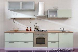 Прямая светлая кухня - Мебельная фабрика «Buena»