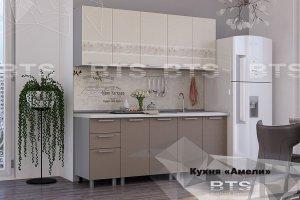 Прямая удобная кухня Амели - Мебельная фабрика «BTS»
