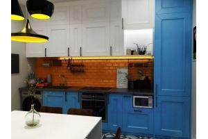 Прямая яркая Кухня Фьюжн - Мебельная фабрика «ДиВа мебель»