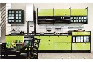 Прямая желтая кухня Валерия - Мебельная фабрика «Мир Нестандарта»