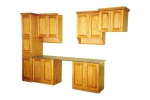 Прямой деревянный кухонный гарнитур - Мебельная фабрика «ШиковМебель»