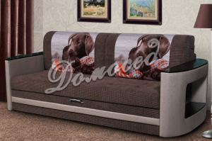 Прямой диван Элеон с фотопечатью на подушках - Мебельная фабрика «Домосед»