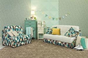 Прямой диван-кровать РОБИН-БОБИН М (аккордеон) - Мебельная фабрика «Anderssen»