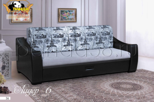 Прямой диван Лидер 6 - Мебельная фабрика «Панда», г. Кузнецк