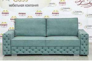 Прямой диван Лофт с каретной стяжкой - Мебельная фабрика «Амарас»