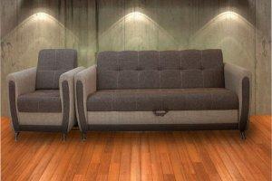 Прямой диван МН-1 с креслом - Мебельная фабрика «Велес»