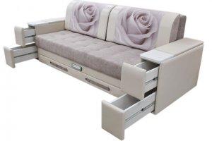Прямой диван с ящиками Лидер-24 - Мебельная фабрика «Симбирск Лидер»