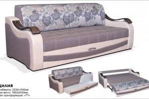 Прямой диван Сицилия ТТ с ящиком - Мебельная фабрика «Клеопатра»