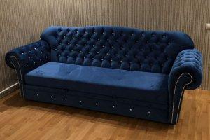 Прямой диван в каретной стяжке - Мебельная фабрика «Технологии комфорта»