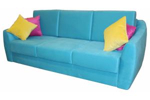 Прямой голубой диван - Мебельная фабрика «Viktoria»