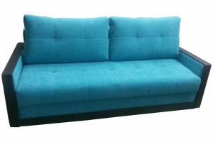 Прямой голубой диван - Мебельная фабрика «МебельБренд»