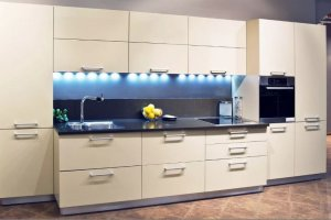 Прямой кухонный гарнитур - Мебельная фабрика «Люкс-С»
