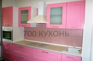 Прямой розовый кухонный гарнитур - Мебельная фабрика «700 Кухонь»