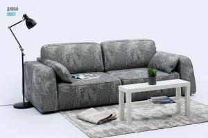 Прямой Серый диван - Мебельная фабрика «Империя Идей»