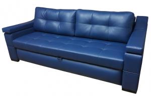 Прямой синий диван Эгоист - Мебельная фабрика «Каролина»
