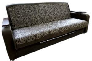 Прямой темный диван - Мебельная фабрика «Ритм»