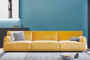 Прямой желтый диван - Мебельная фабрика «Ре-Форма»
