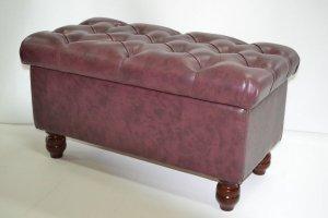 Пуф (банкетка с каретной стяжкой) - Мебельная фабрика «Росмебель»
