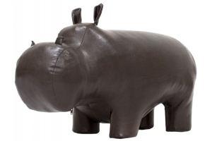 Пуф Бегемот мини темно-коричневый/гладкий - Мебельная фабрика «Мебелик»