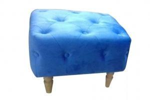 Пуф голубой на ножках - Мебельная фабрика «Софт»