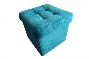 Пуф голубой с каретной стяжкой - Мебельная фабрика «Влада»
