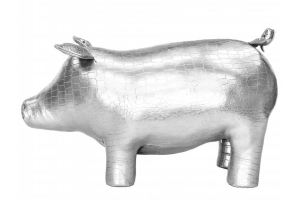 Пуф Кабан мини серебристый/крокодил - Мебельная фабрика «Мебелик»