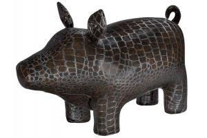Пуф Кабан мини темно-коричневый/крокодил - Мебельная фабрика «Мебелик»